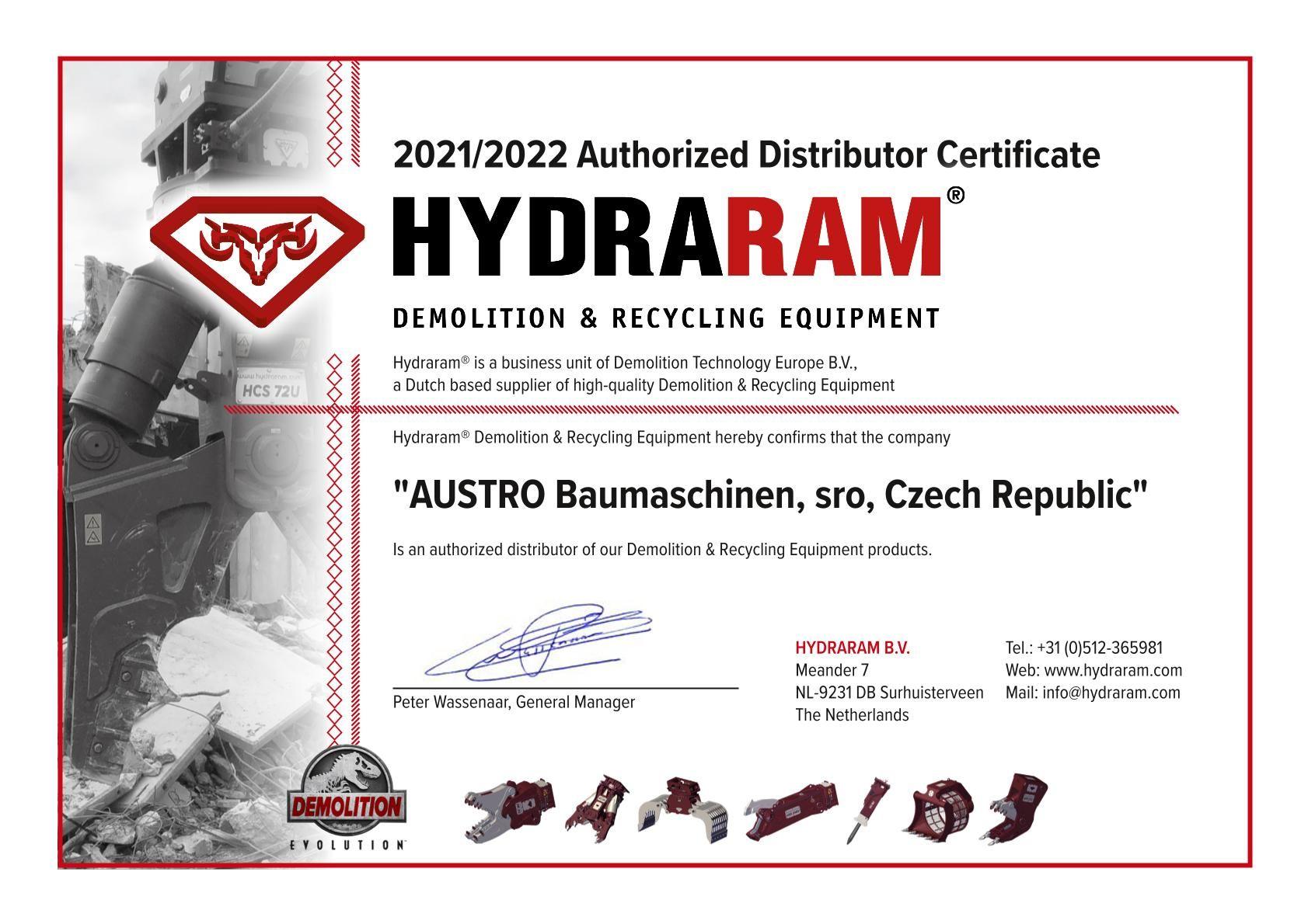 Dealer_certificate_Austro Baumaschinen,sro