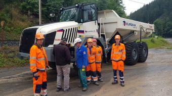 TEREX TA300 articulated dumper in EUROVIA Kamenolomy
