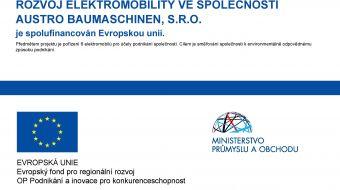 ROZVOJ ELEKTROMOBILITY VE SPOLEČNOSTI AUSTRO BAUMASCHINEN, S.R.O. je spolufinancován Evropskou unií.
